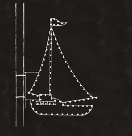 Nautical Sailboat Outdoor Display