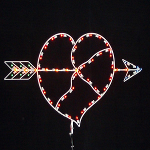 Heart with Arrow Holiday Decorations