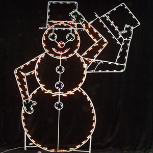 Large Hat Tipping Snowman Christmas Decorations